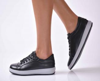 Дамски обувки естествена кожа черни  RETL-1016026