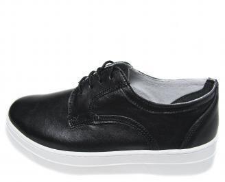 Дамски обувки естествена кожа черни DUYB-21130