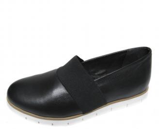 Дамски обувки естествена кожа черни RXUZ-21131