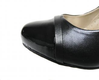 Дамски обувки естествена кожа черни CVVI-21371