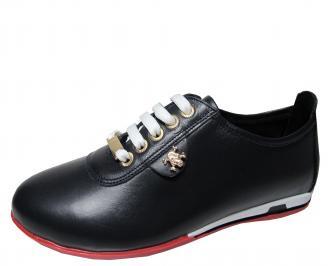 Дамски обувки естествена кожа черни VLYI-22342