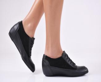 Дамски обувки естествена кожа черни NEGA-22447