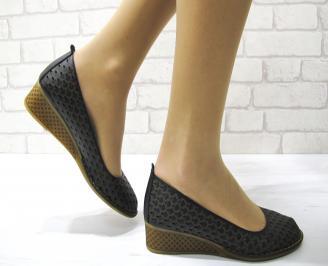 Дамски обувки естествена кожа  черни HAIK-22867
