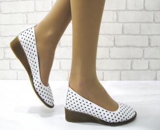 Дамски обувки естествена кожа бели SQTT-22872