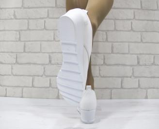 Дамски обувки естествена кожа бели GZOL-23136