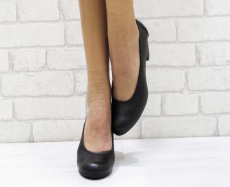 Дамски обувки естествена кожа черни IXMN-23140