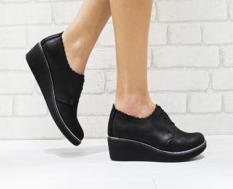 Дамски обувки  естествена кожа черни TTVY-26237