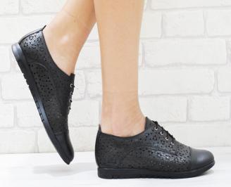 Дамски обувки  естествена кожа черни PKTS-26380