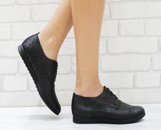 Дамски обувки  естествена кожа черни ONTL-26382