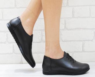 Дамски обувки  естествена кожа черни OMDY-26383