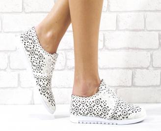 Дамски обувки естествена кожа бежови BSWC-26501