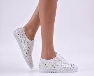 Дамски обувки естествена кожа бели JSLY-26505