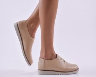 Дамски обувки естествена кожа бежови GAPO-26813