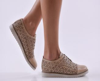 Дамски обувки естествена кожа бежови FCGZ-26819
