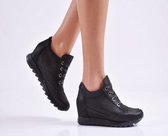 Дамски  обувки  естествена кожа черни HPIB-26950
