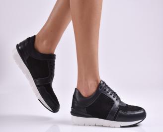 Дамски  обувки  естествена кожа черни CJDH-26951