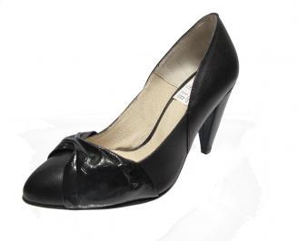 Дамски обувки естествена кожа черни TQLD-12648