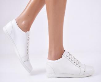 Дамски обувки естествена кожа бели OAKV-13229