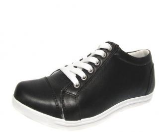 Дамски обувки естествена кожа черни UUEB-13230