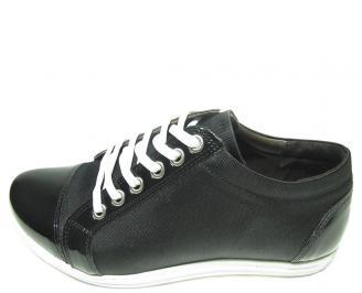 Дамски обувки естествена кожа черни XJZF-13668
