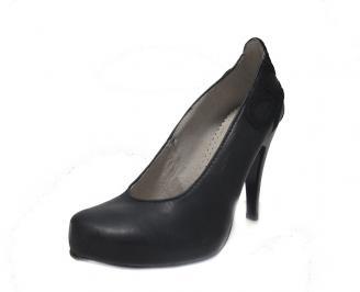 Дамски обувки естествена кожа черни IPWI-14825
