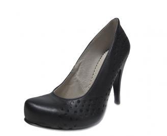 Дамски обувки естествена кожа черни WUHW-14826