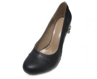 Дамски обувки естествена кожа черни AJQP-14885