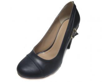 Дамски обувки естествена кожа тъмно сини OILC-14886