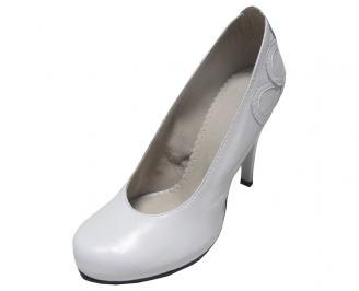 Дамски обувки естествена кожа бели KAFK-15196