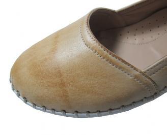 Дамски обувки естествена кожа бежови GHPA-16091