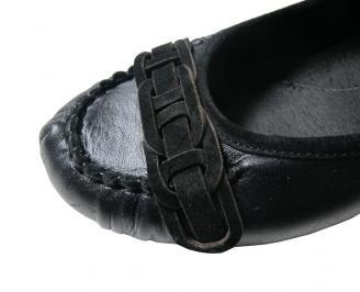 Дамски обувки естествена кожа черни WQNF-16094