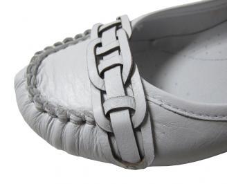Дамски обувки естествена кожа бели AZBG-16095