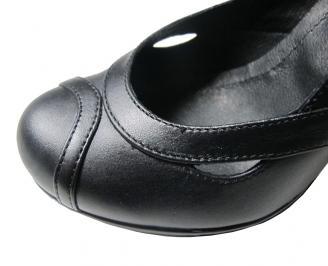 Дамски обувки естествена кожа черни EABJ-16098