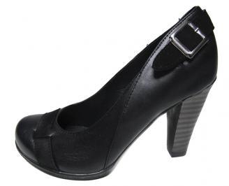 Дамски обувки естествена кожа черни QIQI-16099