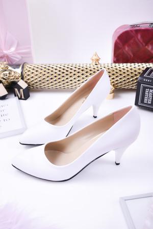 Дамски  обувки Гигант  бели еко кожа JGNM-24283