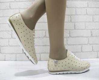 Дамски  обувки Гигант  бежови естествена кожа MYXP-23808
