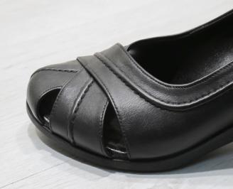 Дамски  обувки Гигант  черни естествена кожа CVWS-24289