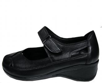Дамски обувки Гигант черни естествена кожа ZYIJ-14761