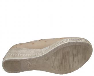 Дамски обувки-Гигант естествена кожа бежови WKEB-21404
