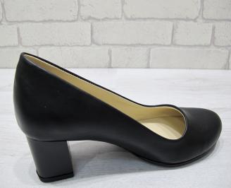 Дамски обувки-Гигант естествена кожа черни NJBM-23019