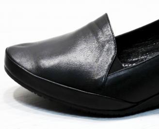 Дамски обувки -Гигант естествена кожа черни IFOL-23039