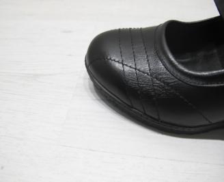 Дамски обувки -Гигант естествена кожа черни 5