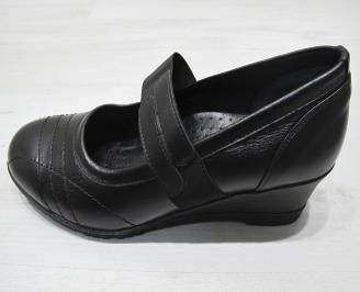 Дамски обувки -Гигант естествена кожа черни MKSO-23335