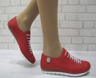 Дамски обувки Гигант равни естествена кожа червени TSAK-23801