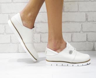 Дамски обувки Гигант равни естествена кожа бежови RMNN-26187