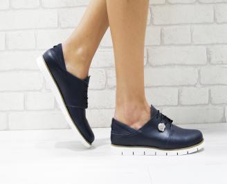 Дамски обувки Гигант равни естествена кожа сини OFQW-26190