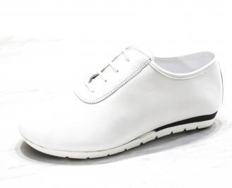 Дамски обувки Гигант равни естествена кожа бели LASS-26507