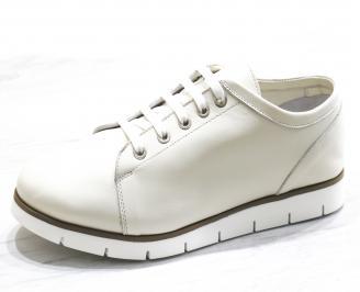 Дамски обувки Гигант равни естествена кожа бежови SGPH-26509