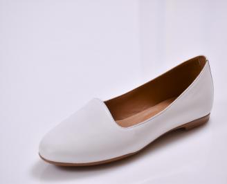 Дамски обувки Гигант равни естествена кожа бели MDUP-26865