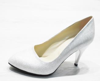 Дамски  обувки Гигант  сребристи еко кожа DEEI-25871